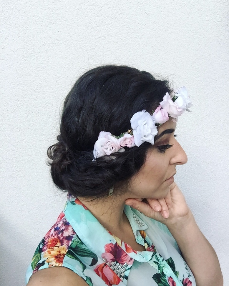 Flower crown hair do tutorial